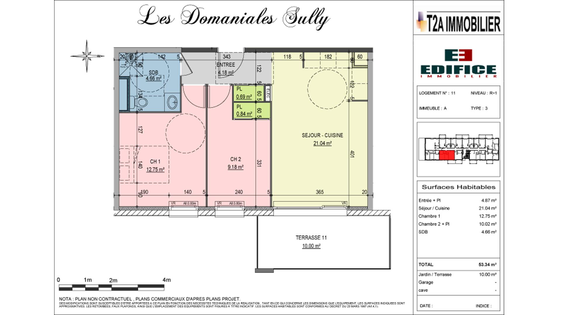 Appartement neuf de type T3